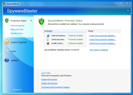 SpywareBlaster Download