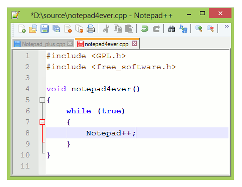 Download Notepad++Download