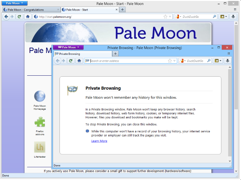 Pale Moon for Windows